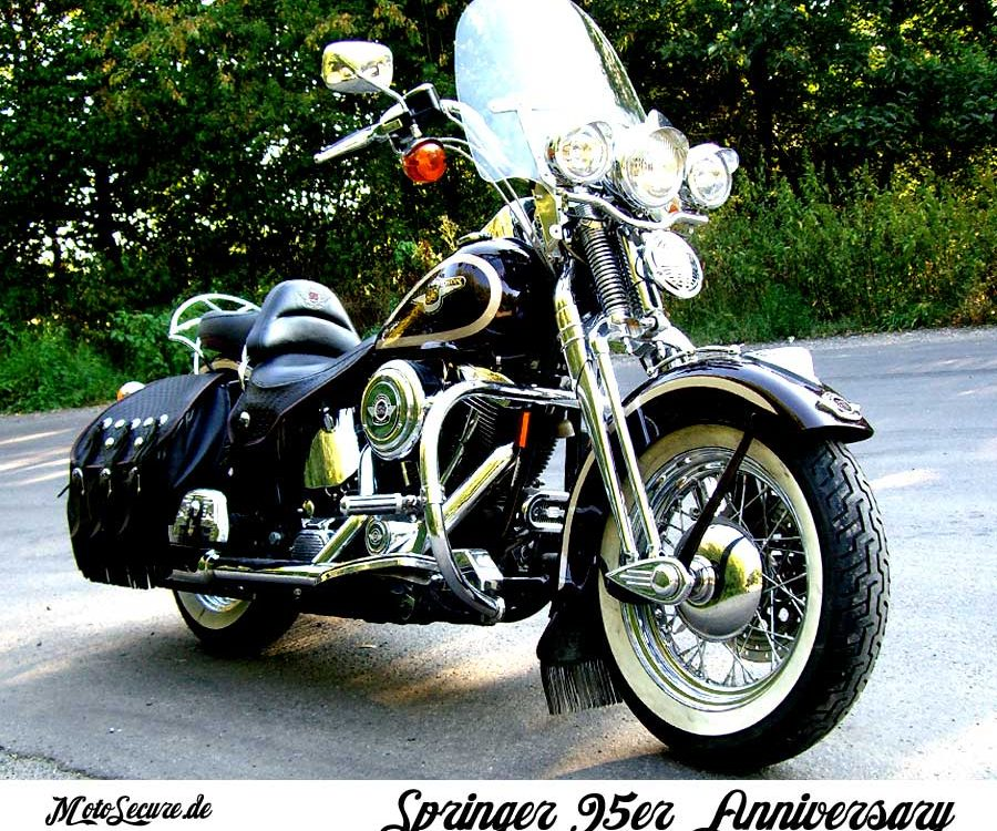 Harley Davidson Springer 95er Anniversary MotoSecure Harley Davidson Versicherung